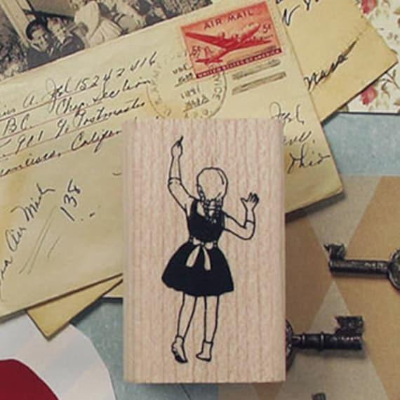 Girl's Dream Stamp (1 x 1.6in)