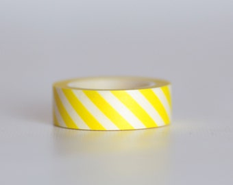 Banana Stripes Washi Tape-  Single Roll 10 m