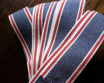 Vintage Red, White, Blue Trim, Edging, Denim