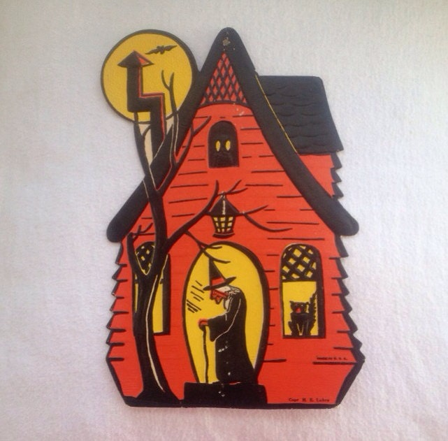 1940s halloween decoration vintage luhrs haunted house Vintage halloween decorations uk