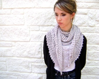 Triangle Shawl or Scarf Pattern- Easy Crochet Pattern for the Advanced Beginner and Beyond