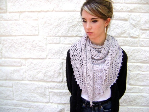 Triangle Shawl or Scarf Pattern Easy Crochet by sheilalikestoknit