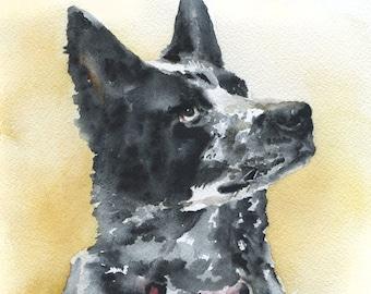 Custom Portrait Pet Portrait Original Watercolor Painting - Single Animal
