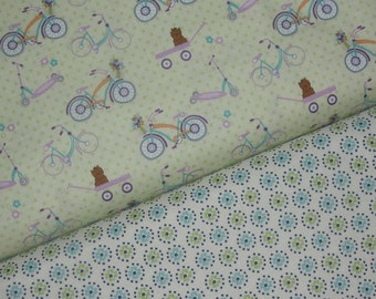 Dress Up Days Fabric Duo by Doohikey Designs for RIley Blake Fabrics, Full Yard Set, 2 Yards Total