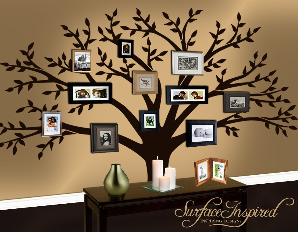 pics photos family tree vinyl decal wall sticker picture wall stickers tree bird family tree nursery kids flower