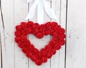 Red Valentine Wreath