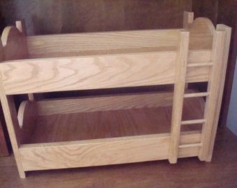 Oak Doll Bunk Bed(Fits American Girl Doll and 18 inch dolls)