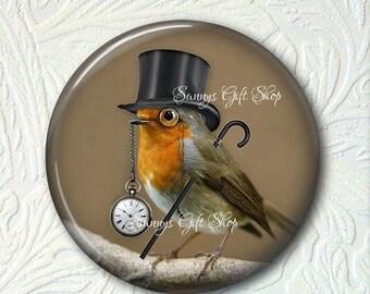 Pocket Mirror  Steampunk Bird Buy 3 get 1 Free 363-S