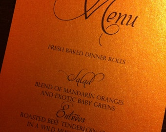HANDMADE antique gold Wedding menu