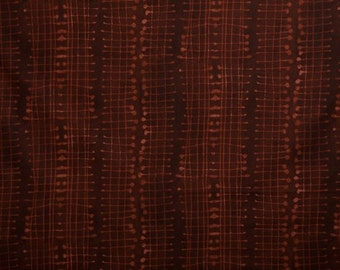 Burnt Umber Fishnet by Marcia Derse Line 5 from Riverwoods/Troy - Modern Quilt Fabric