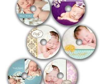 INSTANT DOWNLOAD - Cd/DVD Label Photoshop templates - set of 6 - 0303
