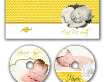 INSTANT DOWNLOAD -  Dvd Label and Dvd Case Photoshop template - W0650