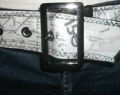 Read My Hips Custom Map Belt - London England and Glasgow Scotland