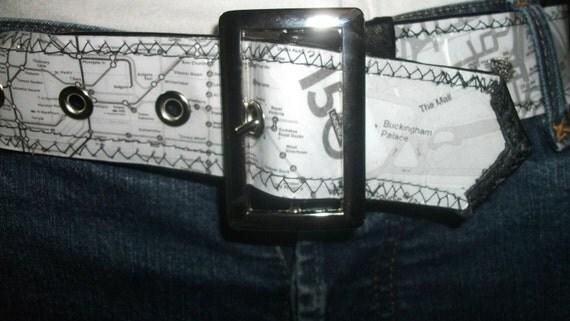 Read My Hips Custom Map Belt - London England and Glasgow Scotland
