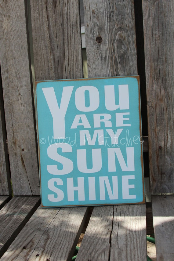 Items similar to you are my sunshine wood sign nursery for Personalized kids room decor