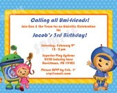 PRINTABLE Team Umizoomi Birthday Invitation -  4x6 or 5x7 Digital File