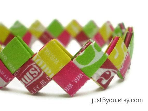 Candy Wrapper Jewelry Candy Wrapper Bracelet on