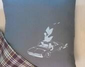 Supernatural Pillow Cover - Impala Pillow - Team Free Will Pillow - Castiel Pillow - Dean Winchester Pillow - Supernatural Bedding