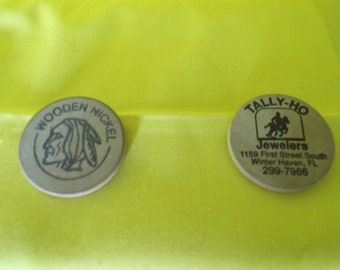 Wooden Nickle & Advertising Nickle  FREE SHIPPING