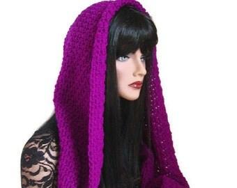 Purple Infinity, Neon Purple, Neckwarmer, Mens, Womens, Hood Cowl, Purple Scarf, Purple Neon, Scarf, Winter Accessories, Winter Fashion