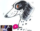 Sale Special Custom Color Brush-Pen & Ink Pet Caricature from your photo