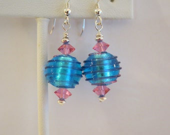 Venetian Glass Sterling Earrings