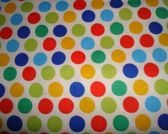 Diddly Dots Fabric Primary by Michael Miller -  1 yard 22 inches