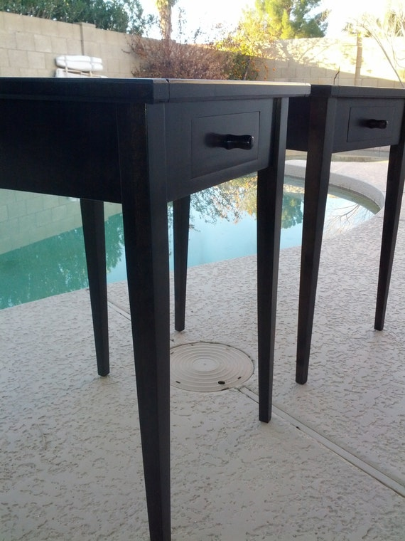 Clearance sale shaker style end tables ebonized alder for Clearance end table set
