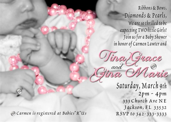 diamonds and pearls twins baby shower by wilsonphotoanddesign
