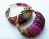 Warm Embrace II yarn earrings MD