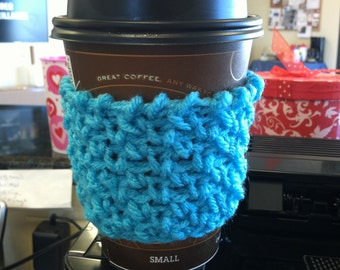 Blue Crochet Cup Cozy