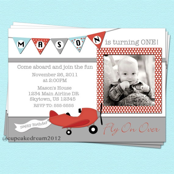 Airplane Birthday Invitations for your inspiration to make invitation template look beautiful