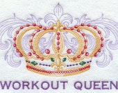 Embroidered Flour Sack Towel / Hand Towel / Quilt Block -Workout / Exercise Queen / King