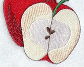 Embroidered Flour Sack Towel / Hand Towel / Quilt Block - Fruit Embroidery Design