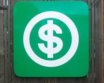 "Todd Pierce Pictigram "" US Dollar symbol MONEY "" Lt. Ed.2/3 - Enamel on Steel"