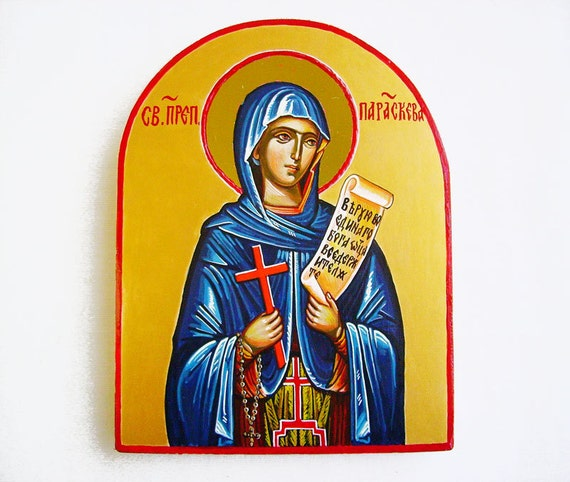 St. Petka - Parasceva -  Handpainted orthodox icon, MADE TO ORDER