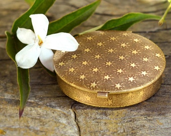Botanical Solid Perfume in Starry Locket - Choose Your Perfume - Pure Botanical Essences 7.2 g (.25 oz)