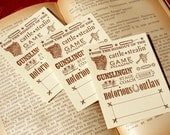 Outrageous Cowboy / Western - NOTORIOUS OUTLAW - Letterpress Bookplates - Set of 10