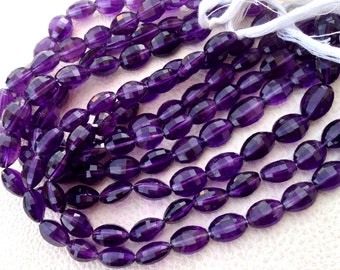 Brand New, 1/2 Strand, AFRICAN AMETHYST Faceted Oval Nuggets,Superb 10-12mm size,aprx.Amazing Item