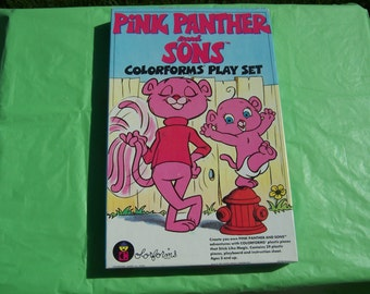 Pink Panther and Sons Colorforms set with clinging vinyl pieces
