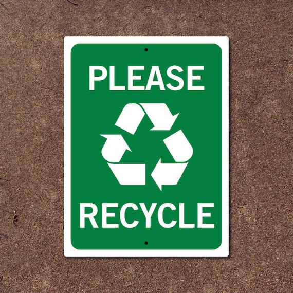 items similar to please recycle sign on etsy