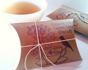 Reserved // Tea Wedding Favors. Bridal shower gifts.  Set of 24 RUSH