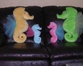 Large Seahorse minky dot plush toy