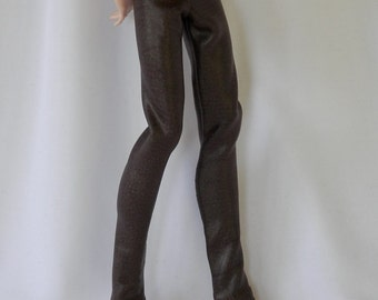 Brown Pleather pants designed for your Monster High Jackson Jekyll or Other Male MHD