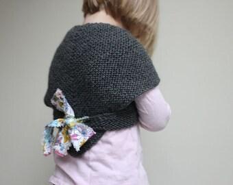 Direct Download PDF Knitting Pattern - Heartwarmer Pattern - Girls Sweater Pattern