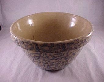 Spongeware Pottery Mixing Bowl
