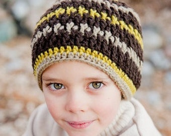 Crochet Pattern, Firecracker Hat Textured - Instant Download Crochet Pattern
