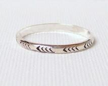 Stacking ring chevron ring silver stack ring sterling silver ring Etsy jewelry silver chevron ring