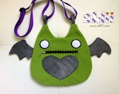 Winged Kitty Cat Zombie Purse