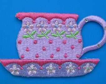 Iron-on Embroidered Patch Tea 2.6 inch